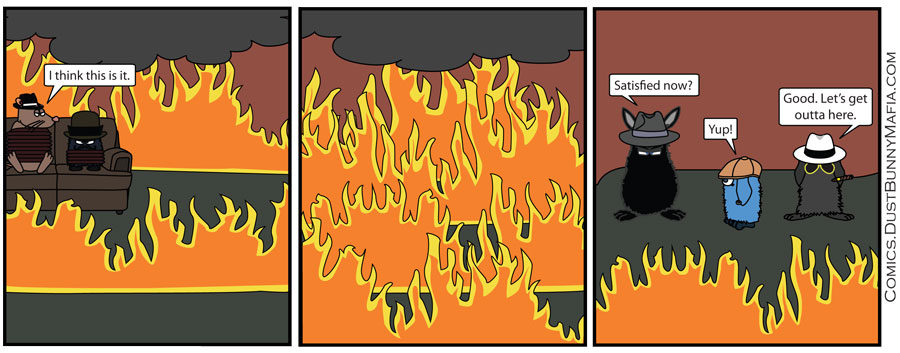 Fire was very fun to illustrate, favorite part of this strip.